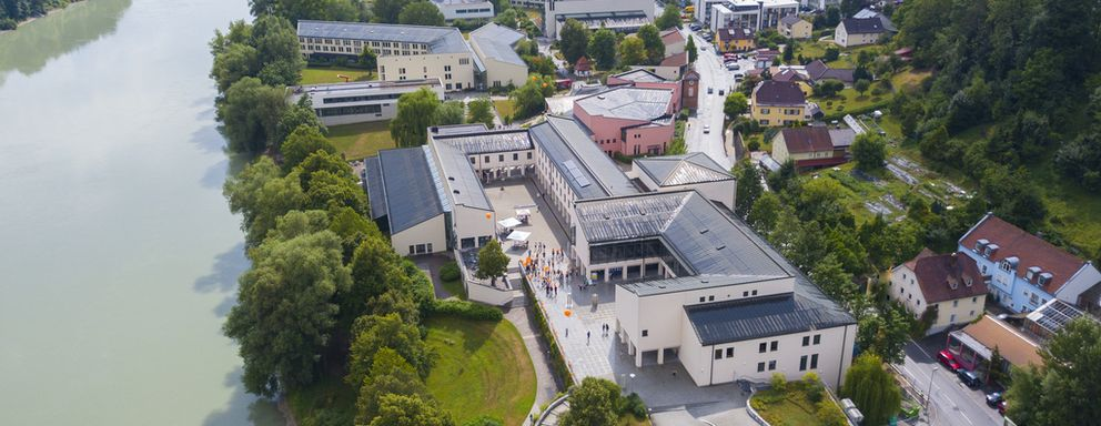 Aerial picture of the University of Passau