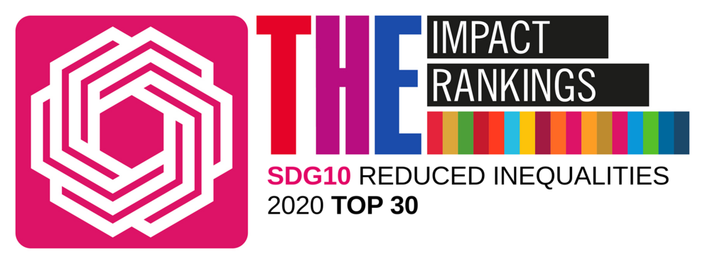 THE Ranking Reduced Inequalities Top 30 2020