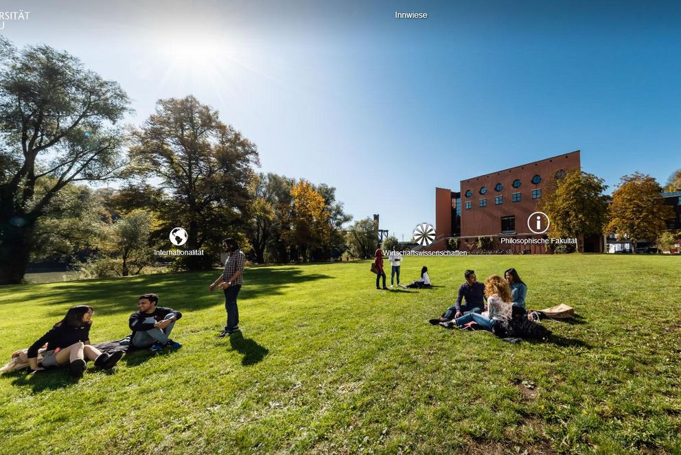 Accessible virtual campus tour: Innwiese meadow
