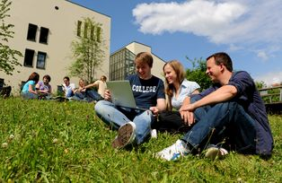Students can revise outdoors, thanks to Wi-Fi access throughout the campus