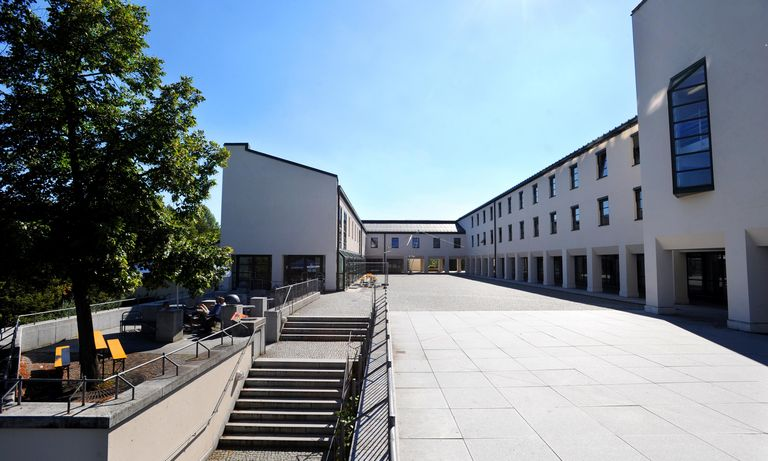 Forecourt of the cafeteria of the University of Passau