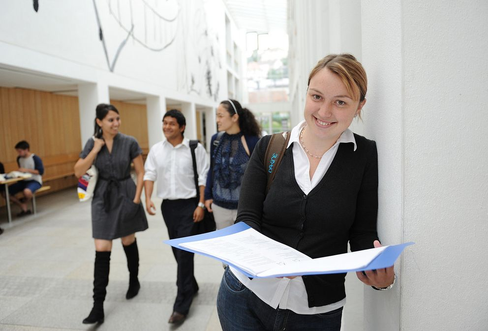 Students at the University of Passau